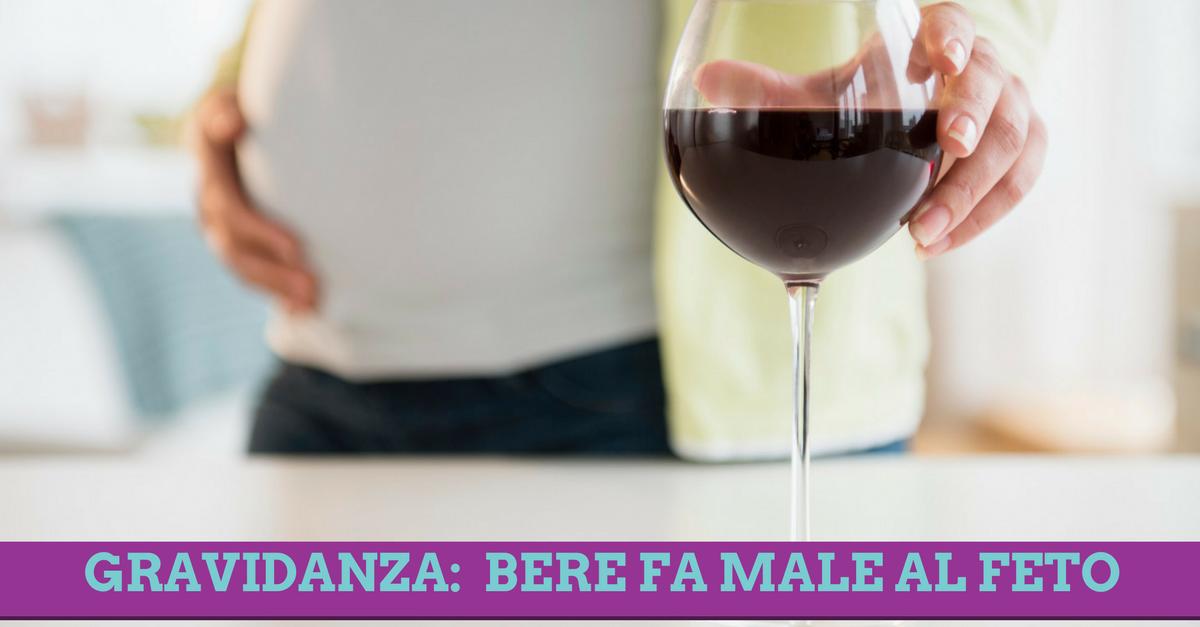 Bere in gravidanza, anche un solo bicchiere è dannoso