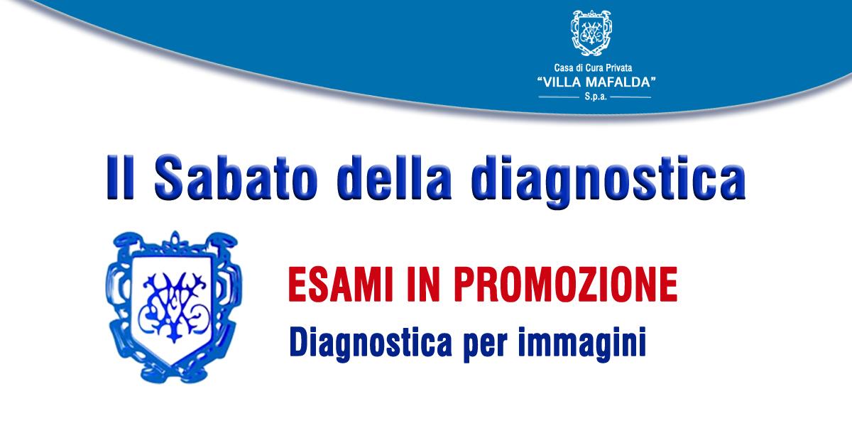 """""""Il Sabato della diagnostica"""", esami in promozione"""