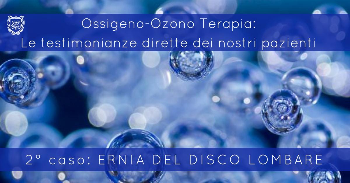 Ossigeno-Ozono Terapia, Ernia del disco lombare