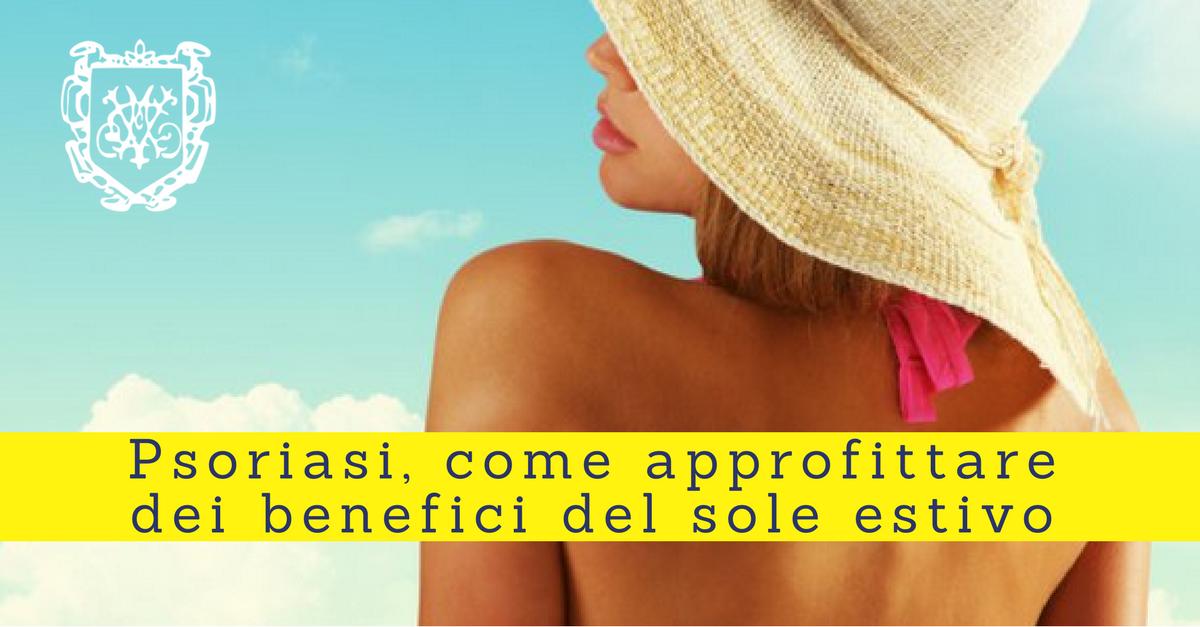 Psoriasi, approfittare dei benefici del sole estivo