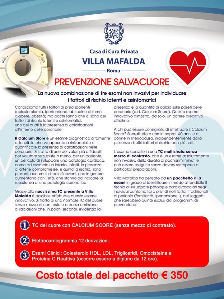 Prevenzione Salvacuore - Prevenzione cardiovascolare - Villa Mafalda