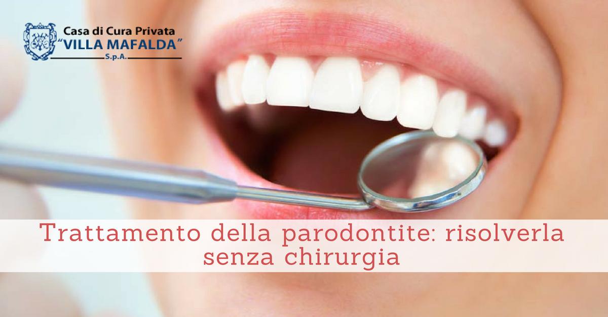 Trattamento della parodontite senza chirurgia