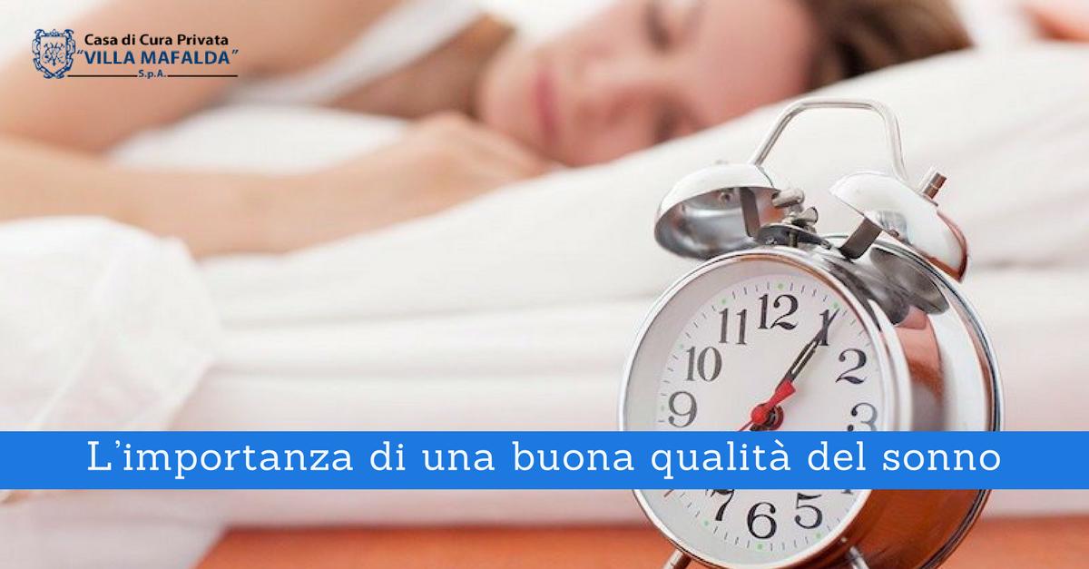 L'importanza di una buona qualità del sonno