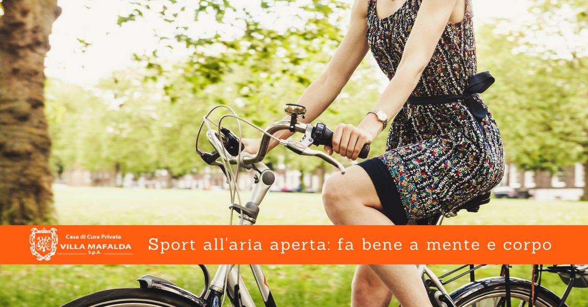 Sport all'aria aperta: fa bene a mente e corpo