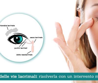 Ostruzione delle vie lacrimali: risolverla con un intervento mini invasivo