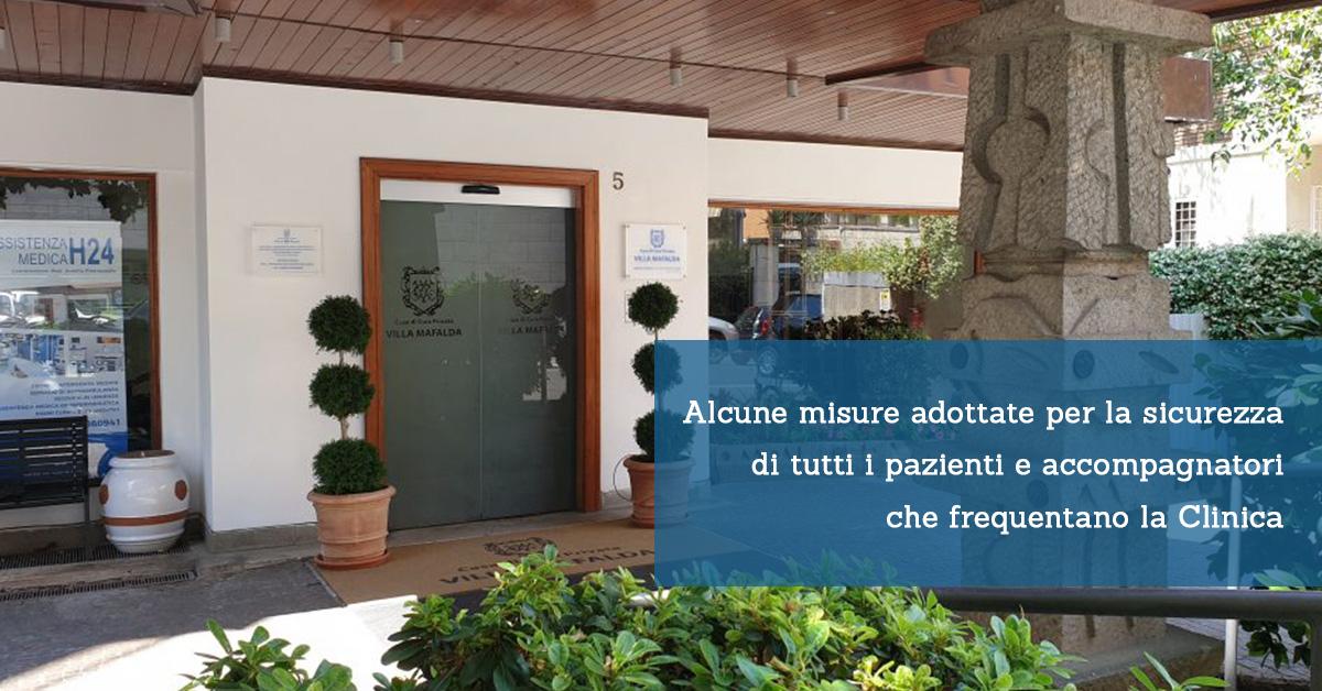 Alcune misure adottate per la sicurezza di tutti i pazienti e accompagnatori che frequentano la Clinica - Casa di Cura Villa Mafalda di Roma - Villa Mafalda Blog