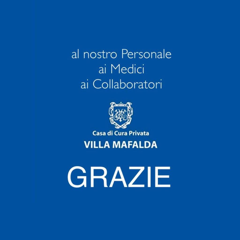 Al nostro Personale, ai Medici e ai Collaboratori - Grazie - Casa di Cura Villa Mafalda di Roma - Villa Mafalda Blog