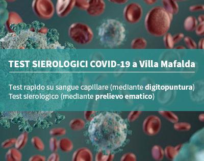 Test sierologici per Covid-19 a Villa Mafalda